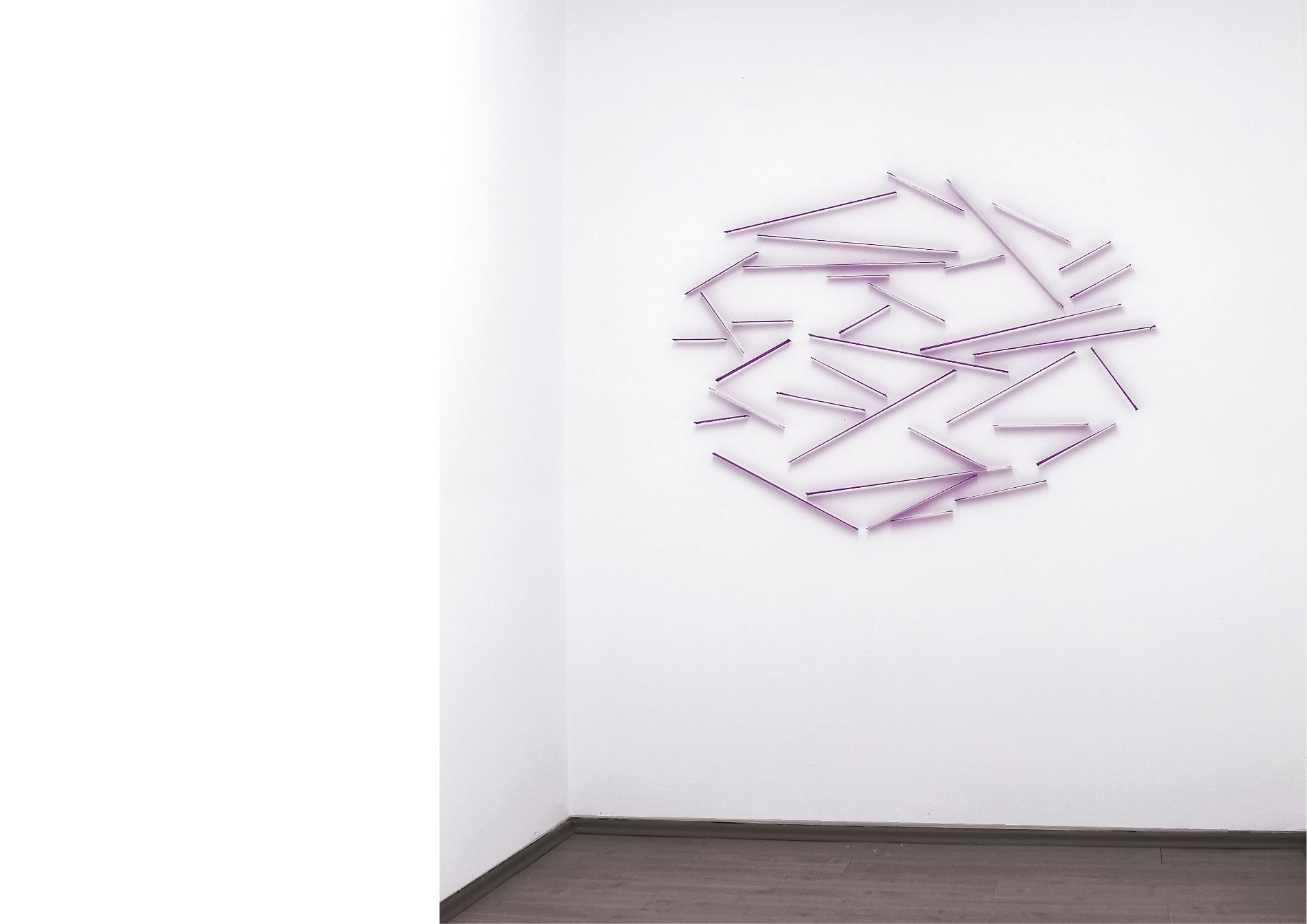 gh_oval_#1_2020_tissue, steel pins_100 x 140 x 3 cm