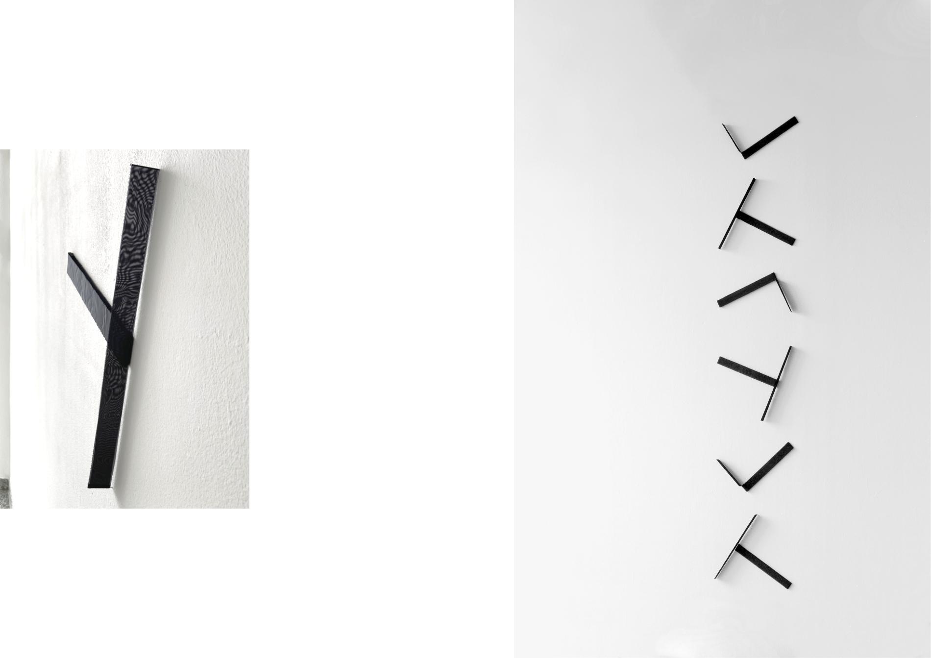 elements #1_2021_tissue, steel pins_255 x 45 x 3 cm