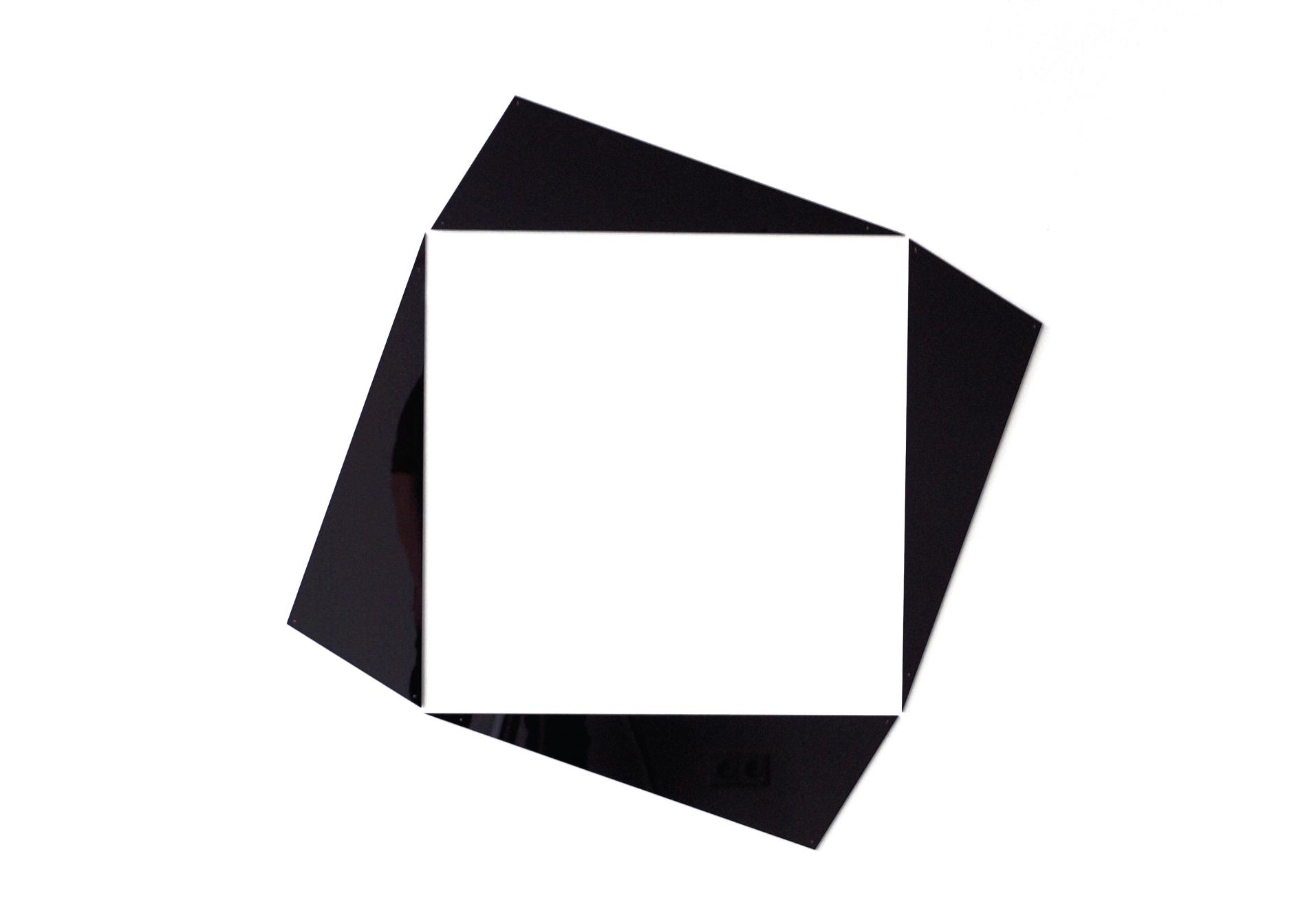 insideout square #1_2017_black perspex_92 x 92 x 0,3 cm edition 3 + e.a.